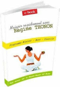 Livre pour maigrir rapidement grâce au régime minceur thonon