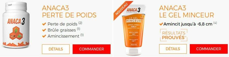 Anaca3 le gel minceur pour perdre du poids : avis et prix en pharmacie